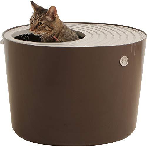 アイリスオーヤマ 上から猫トイレ システムタイプ ベージュ/ブラウン レギュラー