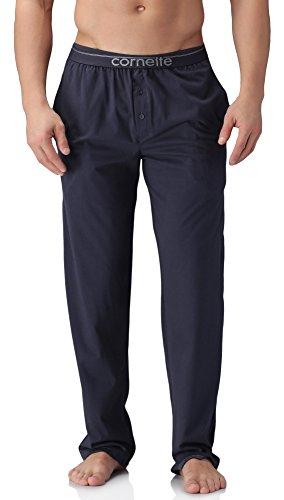Cornette Pantalon de Pyjama Homme - CR099 (Bleu Marine, XL)