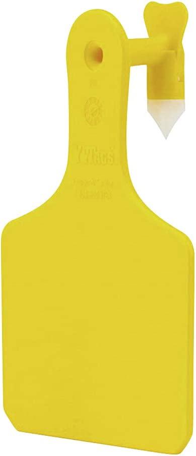 Y-Tags One-Piece Tag System Outstanding Calf Tags Yellow Blank Max 86% OFF 25