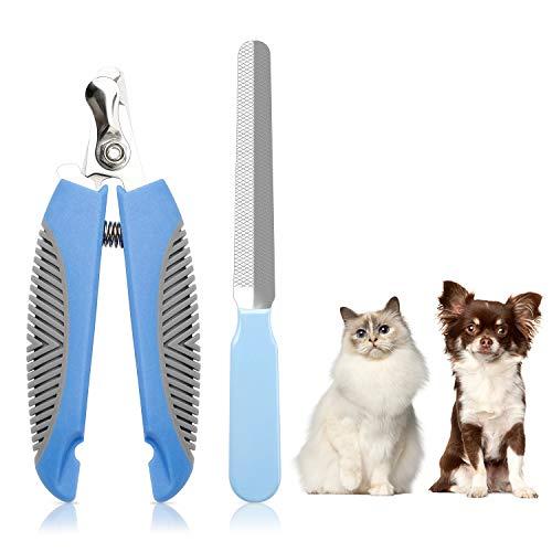 Kasimir Profi Krallenschere für Hunde und Katzen und Kleintiere Edelstahl Krallenpflege in Tiersalon - Haustiere Krallenschneider Krallenfeile Krallenzange Mit Sicherheitsschutz 100% splitterfrei