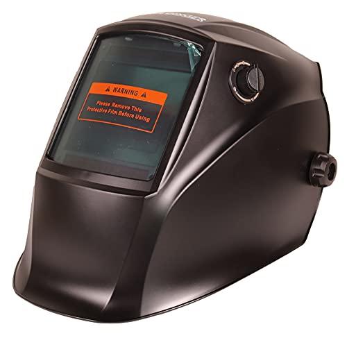 WELDINGER AH 500 Realcolor Automatik-Schweißhelm DIN 5-8/9-13 Panoramasichtfeld solar Mattschwarz