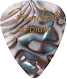 Fender 351 Shape Premium Picks (12 Pack) for electric guitar, acoustic guitar, mandolin, and bass, abalone, medium (1980351857)
