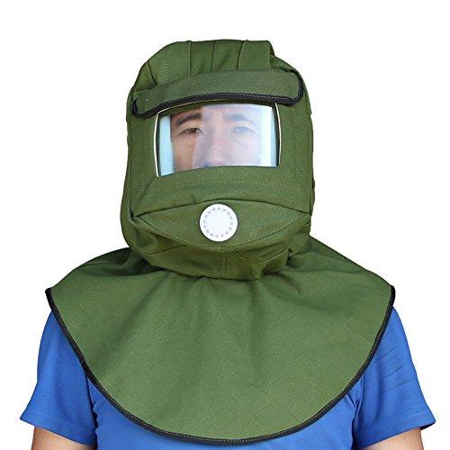 CKLT Sand Blasting Hood Cap Shawl Cap Sandblaster Mask Anti-dust Hood Protective Gear Mask,Canvas (canvas)