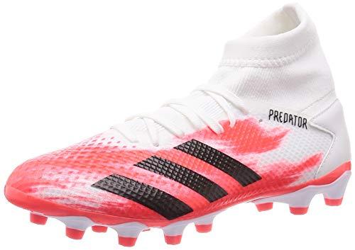 adidas Performance Herren Fußballschuhe Rasen/Kunstrasen Predator 20.3 MG Weiss/rot (908) 442/3