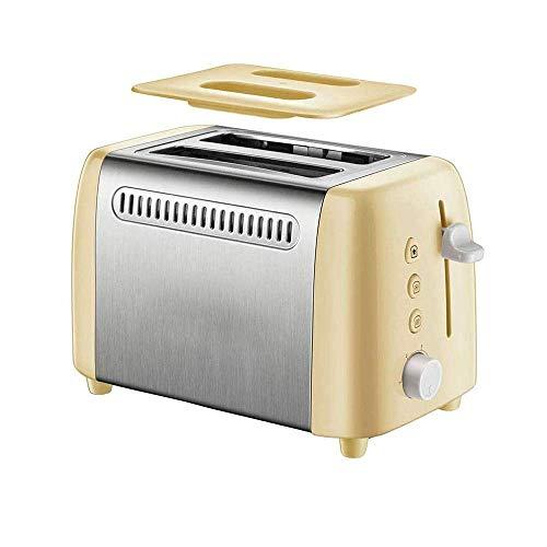 Utensilios al aire libre Máquina para hacer pan 2 rebanadas Tostadoras Pan Máquina de desayuno de acero inoxidable Ranuras extra anchas para el hogar Cocina Desayuno Descongelación Función de cancelac