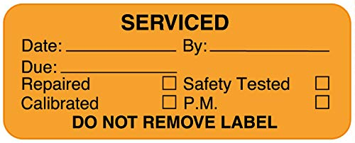 Equipment Service 70% OFF Outlet Label 2-1 x 4
