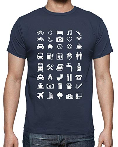 latostadora - Camiseta con Emoticonos para para Hombre