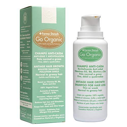 Farma Dorsch Go Organic Champú Anti-Caída para Pelo Normal a Graso - 200 ml