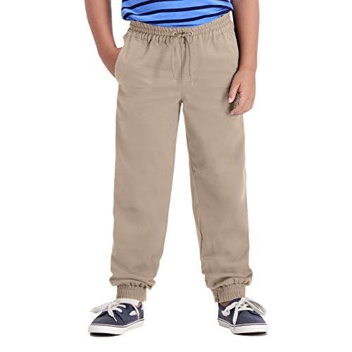 Haggar Little Boy's Regular 4-7 Sustainable Jogger Pant, Khaki, 7 REG