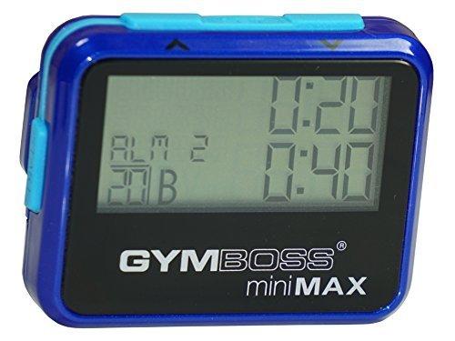 Gymboss miniMAX - Cronómetro y Temporizador de intervalos, Color Revestimiento Metálico Brillante Azul