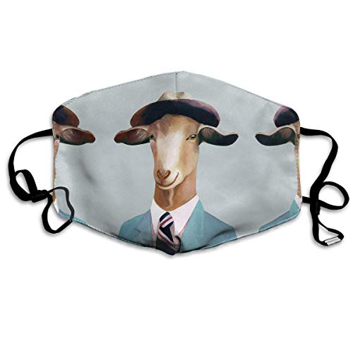 Halloween Fashion Mask Mr Goat verstelbare oorschelp gezichtsmasker stofmasker anti-pollen masker