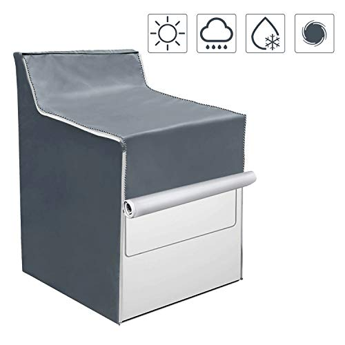 Washing Machine Cover,W29in D28in H40in,Washer/Dryer Cover Fit Most Top Load or Front Load Washers/Dryers,All Weather Protection Gray