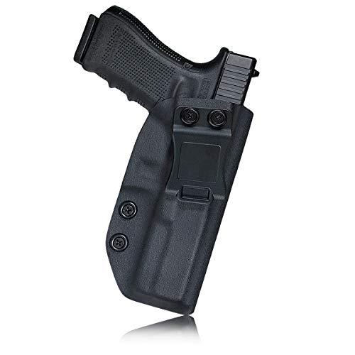 IWB Kydex Holster for Glock 17 / Glock 22 / Glock 31 Concealed Carry - Glock 17 Holster IWB - Inside Waistband Carry Concealed Holster Glock 17 IWB Pistol Case Guns Accessories (Black, Right Hand)
