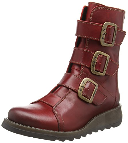Fly London Damen Scop110fly Biker Boots, Rot (Red 004), 37 EU