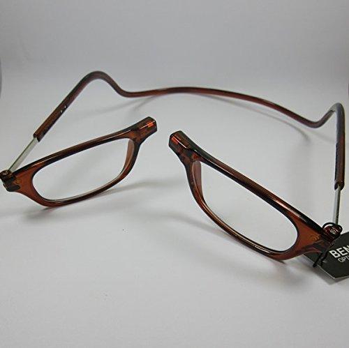 BENSON Lesebrille +2,5 mit Magnetverschluss braun unisex Fertigbrille Lesehilfe