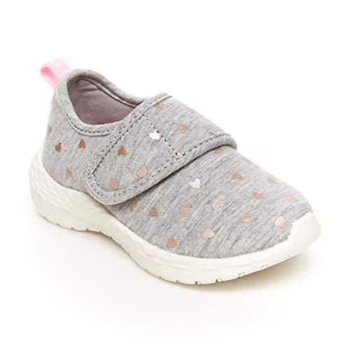 Carter's girls Lorena Running Shoe, Grey, 8 Toddler US