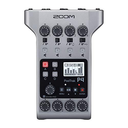 ZOOM ズーム 4マイク入力、4ヘッドフォン出力、4トラック同録、ポン出し可能な サウンドパッド付き、ポッドキャスト収録&ライブ配信用レコーダー【メーカー3年延長保証付】 PodTrak P4