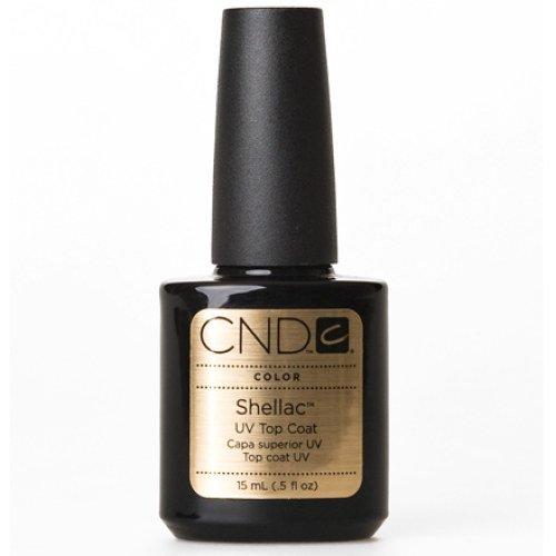 CND Shellac Vernis à ongle de finition semi-permanent (top coat), flacon 15 ml