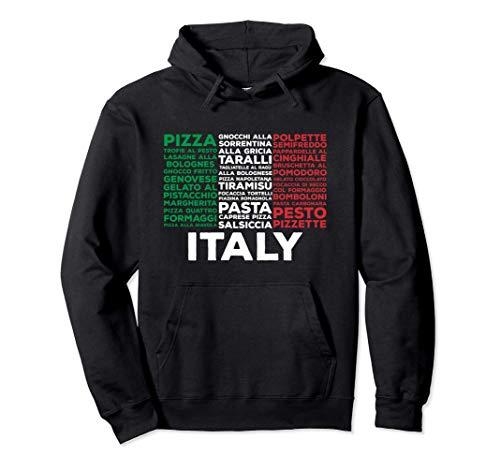 Italienische Nahrungsmittelflagge Italien Pasta Liebe Pullover Hoodie