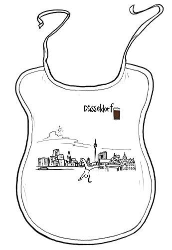 die stadtmeister Erwachsenen-Latz Skyline Düsseldorf - als Geschenk für Düsseldorfer & Fans der Metropole am Rhein oder als Düsseldorf Souvenir