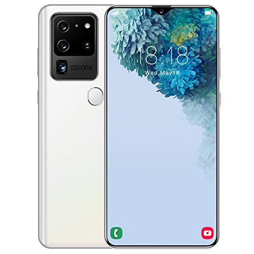 """Smartphones Unlocked Phones,6.8"""" S30U+ Full Display Cell Phones Android 6.0 3GB+32GB Face ID 4G Mobile Phone Dual Standby Card Smart Phone (White)"""