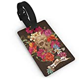 Equipaje Accesorios Accesorios de Viaje Etiquetas para Equipaje Cute Cartoon Elephant with Flower Luggage Tag Travel ID Identifier Labels Set For Bags Baggage PVC Size 3.7 X 2.2 Inches