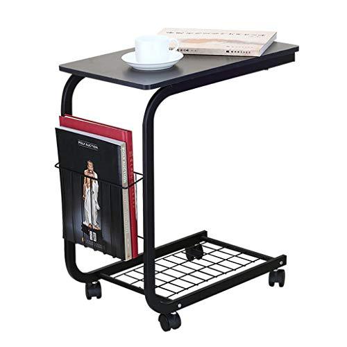 Petite Table D'appoint Mode Salon Canapé D'angle Latéral Plusieurs Table D'ordinateur Mobile Table Basse Loisirs Table Noire 500 * 300 * 600mm