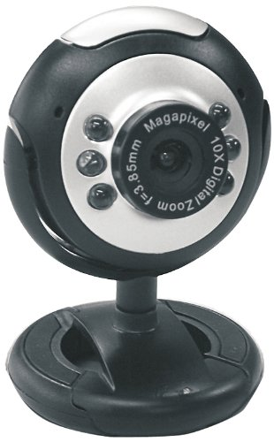 Dynamode USB Plug and Play Webcam with Microphone (2MP, 6 LED)