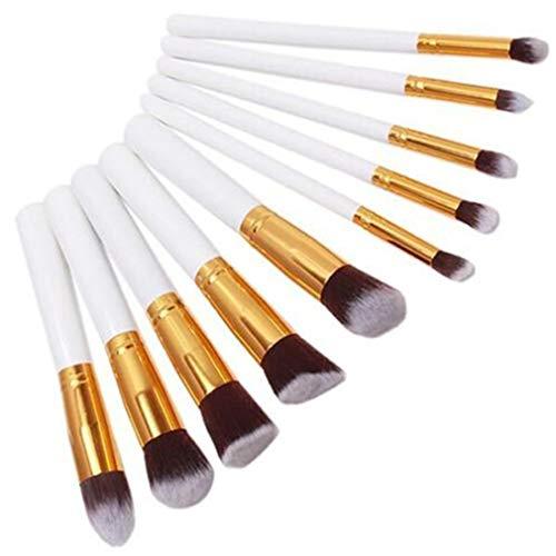 Faliya 20 PCS Maquillage Brosses Set Professionnel Cosmétique Eye Foundation Visage Fard À Paupières Ombre Eyeliner Blush Lip Blending Maquillage Brosses Outils,Or blanc