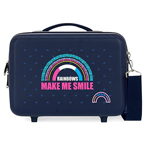 Movom Glitter Rainbow Neceser Adaptable Azul 29x21x15 cms Rígido ABS 9,14L 0,9 kgs