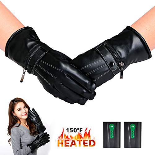 Kamlif Leather Heat Insulation Gloves for Winter Cold Weather