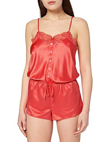 Sylvie Flirty Lingerie Damen Nachthemd Avalon, Orange, Medium