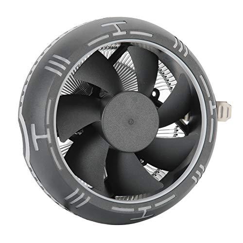 Goshyda Disipador de Calor del Ventilador del Enfriador de CPU de computadora, Enfriador de CPU Ultra silencioso con Gran Volumen de Aire, para Intel LGA775 / 1150/1151/1155/1156/1366/2011