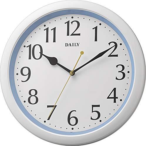 リズム時計工業(Rhythm) 掛け時計 ブルー Φ28x4.6cm アナログ 連続秒針 小型 インテリア 8MG813DN04
