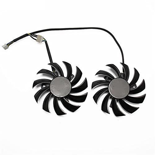 2 unids/Lote 75mm PLD08010S12HH 0.35A Fan del Enfriador para MSI GTX 460 560 570 Twin Frozr II Zotac GTX770 Tarjeta de Video Fan de enfriamiento