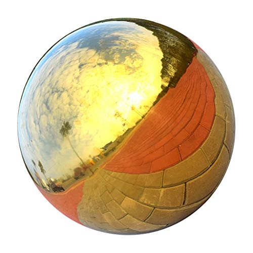 SM SunniMix Gartenkugel Dekokugel Edelstahlkugel Gold glänzend, Perfekt Für Innen/Außen Deko - 120 mm