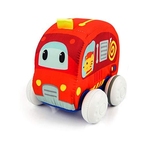 winfun Kuschelweiches Feuerwehr Flitzer Baby Aufziehauto Spielzeug, rot für Babys ab 6 Monate