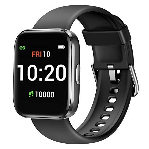 Letsfit Smart Watch for Women Men, Fitness Trackers with Heart Rate Monitor, Pedometer Step Counter Watch with Blood Oxygen Saturation, IP68 Waterproof Smartwatch Compatible with iPhone Android Phones