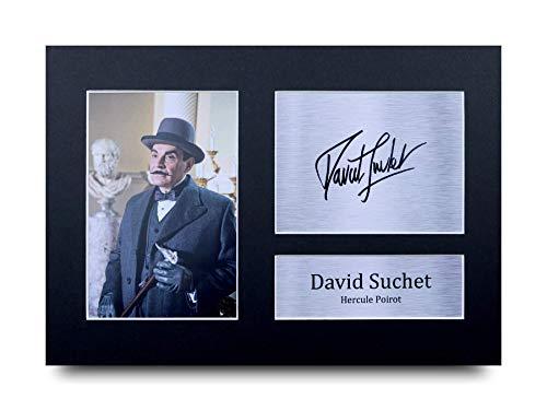 HWC Trading David Suchet A4 Ungerahmt Signiert Gedruckt Autogramme Bild Druck-Fotoanzeige Geschenk Für Poirot Tv-Show-Fans