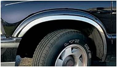 QAA fits 1994-2004 Chevrolet S-10 Truck (4 Piece Molded Stainless Steel Wheel Well Fender Trim Molding, Full Length) WZ34190