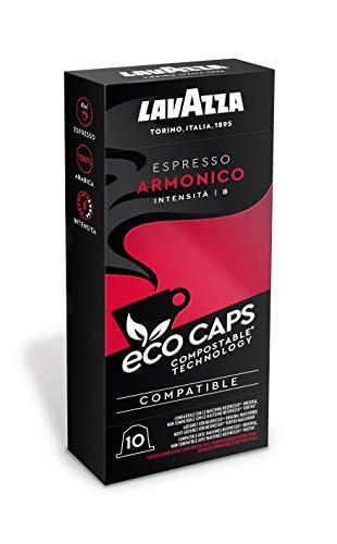 Lavazza Eco Kaffeekapseln - Espresso Armonico - Nespresso kompatibel - 50 Kapseln - 5er Pack (5 x 53g)