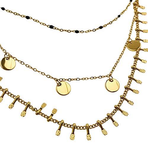 Collar de famosa AISADI 20081659/15 para regalo, rosario chapado en oro antialérgico de acero inoxidable quirúrgico BLUEBERRY TTM XUPING MOONRIVER STAINLESS STAINLESS STALESS SUNLIGHT