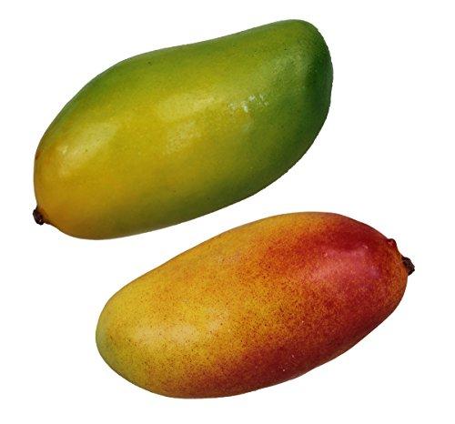 Deko Mango 2 Stück Kunstobst Kunstgemüse künstliches Obst Gemüse Dekoration