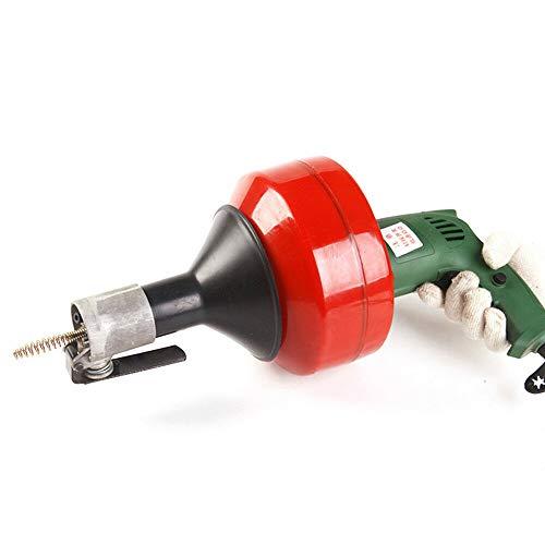 Industrial Rohrreinigungs - Spirale 8m lang, verstopfte Abflüsse, geeignet für Bohrmaschine & Akkuschrauber, Abfluss in Bad oder Küche