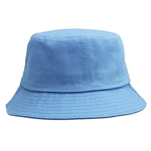 Umeepar 100% Baumwolle Fischerhut Sonnenhut Sommerhut Hut for Damen Herren (Schlicht Blau)