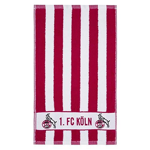 1. FC Köln Gästehandtuch 2-er Set Blockstreifen 30 x 50 cm