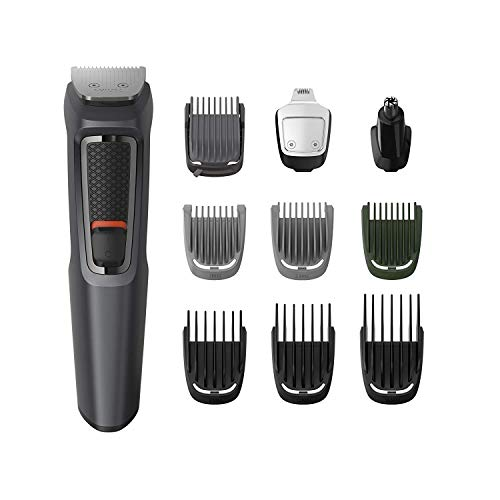 Philips 10-in-1 All-In-One Trimmer, Series 3000 Grooming Kit for Beard,...