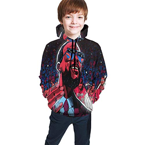 Hidend Kinder Kapuzenpullover Sweatshirt, Marvin Gaye Comfortable Teen Hooded Sweater Black