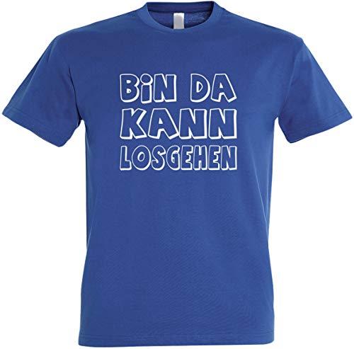 Herren T-Shirt Bin da kann losgehen (Royal, L)
