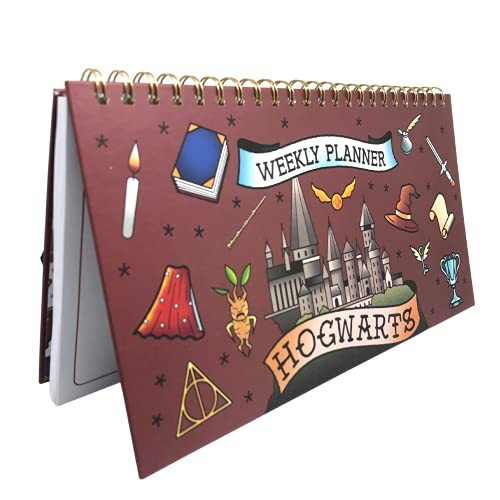 Planificador Semanal Harry Potter Hogwarts Cubierta Tapa Dura Doble Cara Con Notas